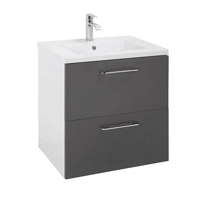 Insley 24 Single Bathroom Vanity Set Base Finish: Gray