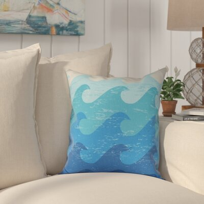 Golden Beach Deep Sea Outdoor Throw Pillow Size: 18 H x 18 W, Color: Blue