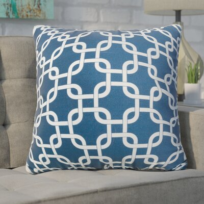 Banas Indoor/Outdoor Throw Pillow Color: Navy Blue