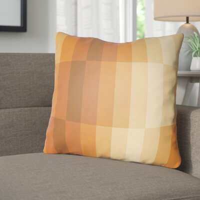 Wakefield Throw Pillow Size: 20 H x 20 W x 4 D, Color: Orange