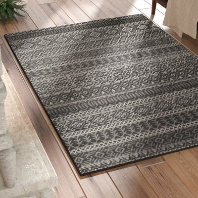 Adette Gray Area Rug Rug Size: 5 x 76
