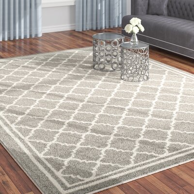 Maritza Dark Grey/Beige Indoor/Outdoor Area Rug Rug Size: Rectangle 9 x 12