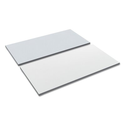 Kappel Reversible Laminate Table Top Color: White/Gray, Size: 23.62 H x 59.5 W x 1 D