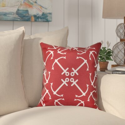 Hancock Anchors Up Geometric Print Throw Pillow Size: 16 H x 16 W, Color: Orange