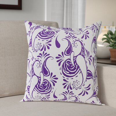 Klassen Indoor/Outdoor 100% Cotton Pillow Cover Color: White/Purple
