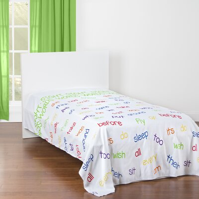 Harman Word Families and Sight Words Educational Microfiber Sheet Set Size: Twin