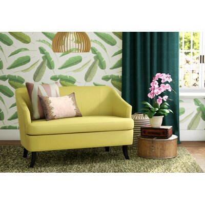 Magic Morden Loveseat Upholstery: Yellow