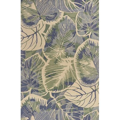 Remington Hand-Tufted Wool Blue/Green Area Rug Rug Size: Rectangle 53 x 83