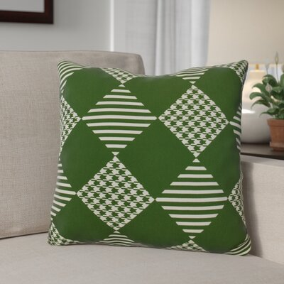 Geometric Outdoor Throw Pillow Size: 18 H x 18 W, Color: Green