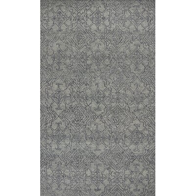 Gilleland Hand-Tufted Wool Gray Area Rug Rug Size: Rectangle 5 x 7