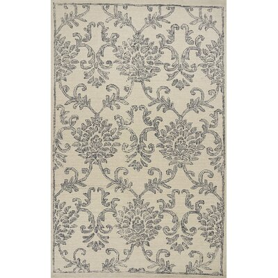 Gilleland Hand-Tufted Wool Ivory/Gray Area Rug Rug Size: Rectangle 86 x 116