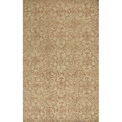 Gilleland Hand-Tufted Wool Sand Area Rug Rug Size: Rectangle 5 x 7