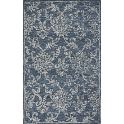 Gilleland Hand-Tufted Wool Denim Area Rug Rug Size: Rectangle 76 x 96