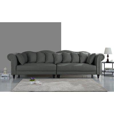 Johnstown Large Chesterfield Sofa Upholstery: Dark Gray