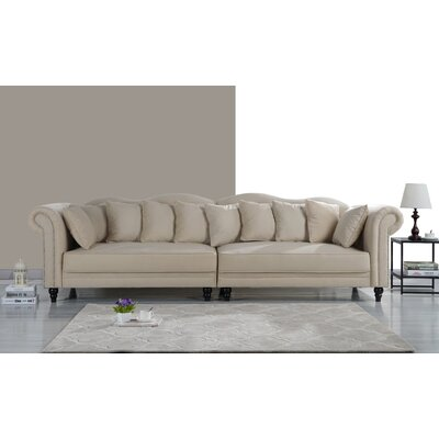 Johnstown Large Chesterfield Sofa Upholstery: Beige