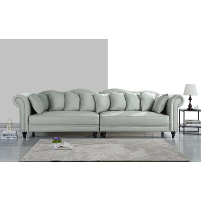 Johnstown Large Chesterfield Sofa Upholstery: Light Gray
