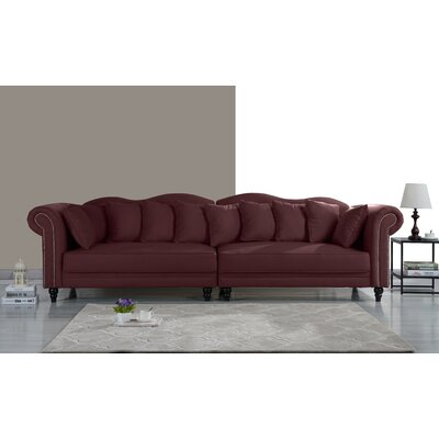 Johnstown Large Chesterfield Sofa Upholstery: Rose Red