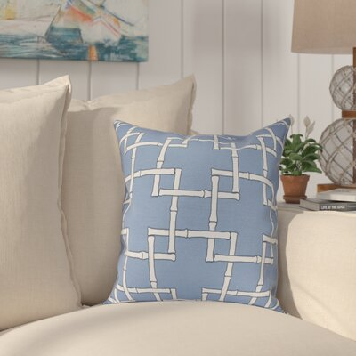 Connelly Bamboo 1 Geometric Throw Pillow Size: 26 H x 26 W, Color: Blue