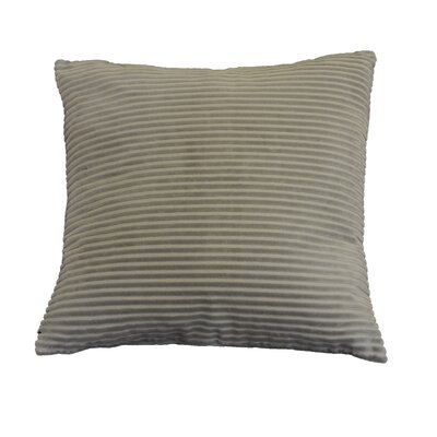 Kentish Strip Square Cotton Throw Pillow Color: Gray