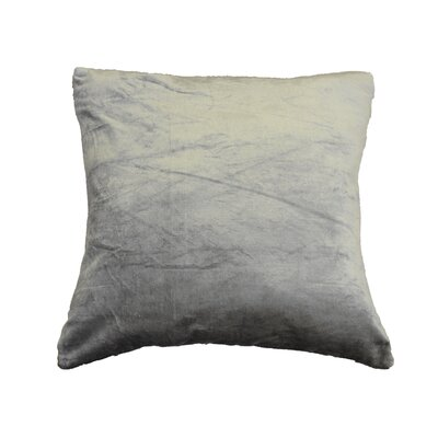 OHare Square Throw Pillow Color: Silver