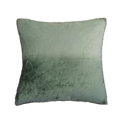 Nyquist Beads Edge Cotton Throw Pillow Color: Seafoam