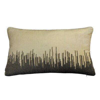 Nyman Beaded Cotton Lumbar Pillow Color: Taupe