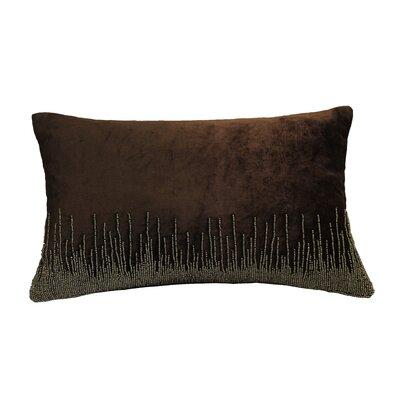 Nyman Beaded Cotton Lumbar Pillow Color: Mocha