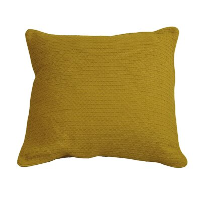 Kenric Diamond Stitch Cotton Throw Pillow Color: Nugget Gold