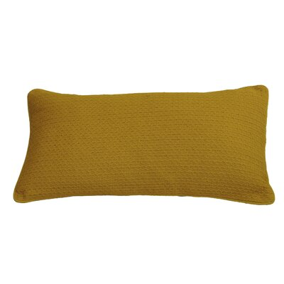 Kensal Diamond Stitch Cotton Lumbar Pillow Color: Nugget Gold