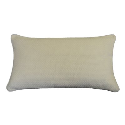 Kensal Diamond Stitch Cotton Lumbar Pillow Color: Natural