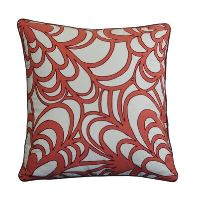 Veschi Scroll Embroidered Cotton Throw Pillow