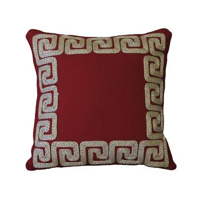 Nuzzo Greek Key Border Cotton Throw Pillow