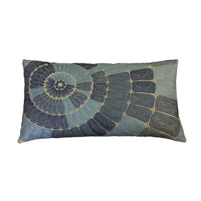 Henderson Concentric Circle Embroidered Cotton Lumbar Pillow