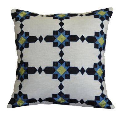 Nyberg Mosaic Embroidered Cotton Throw Pillow