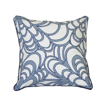 Kells-Connor Scroll Embroidered Cotton Throw Pillow