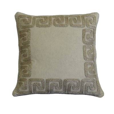 Nygaard Greek Key Border Cotton Throw Pillow