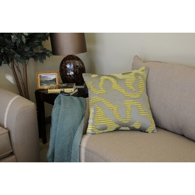 Quan Geo Beaded Cotton Throw Pillow