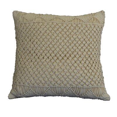 Osterhout Basketweave Cotton Throw Pillow