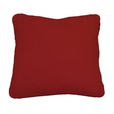 Kensington Moss Knit Cotton Throw Pillow Color: Red