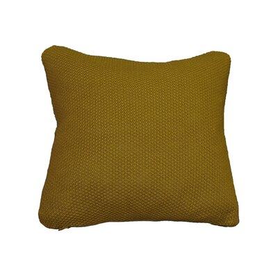 Kensington Moss Knit Cotton Throw Pillow Color: Mustard