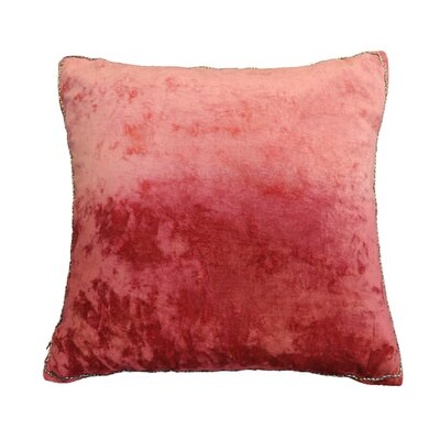 Nyquist Beads Edge Cotton Throw Pillow Color: Rio Red