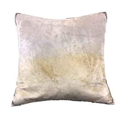 Nyquist Beads Edge Cotton Throw Pillow Color: Ivory