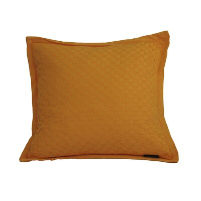 Kennard Honeycomb Texture Cotton Throw Pillow Color: Blazing Orange