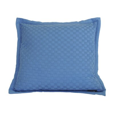 Kennard Honeycomb Texture Cotton Throw Pillow Color: Seaport