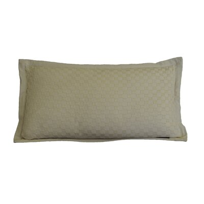 Kennington Honeycomb Texture Cotton Lumbar Pillow Color: Biscotti