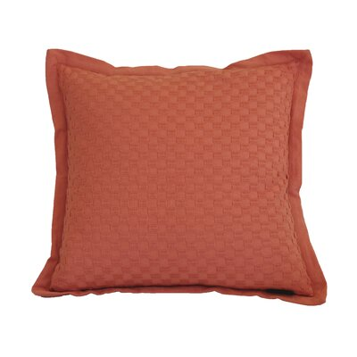 Kennard Honeycomb Texture Cotton Throw Pillow Color: Burnt Sienna