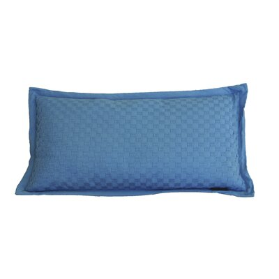 Kennington Honeycomb Texture Cotton Lumbar Pillow Color: Seaport