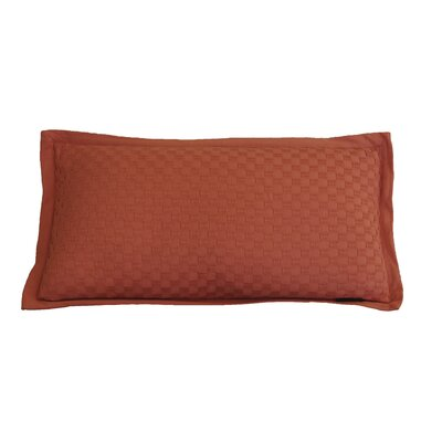 Kennington Honeycomb Texture Cotton Lumbar Pillow Color: Burnt Sienna