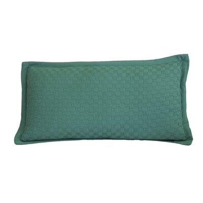 Kennington Honeycomb Texture Cotton Lumbar Pillow Color: Virdis