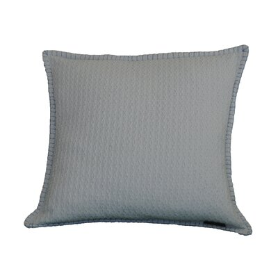 Kendrick Diamond Texture Cotton Throw Pillow Color: Wan Blue